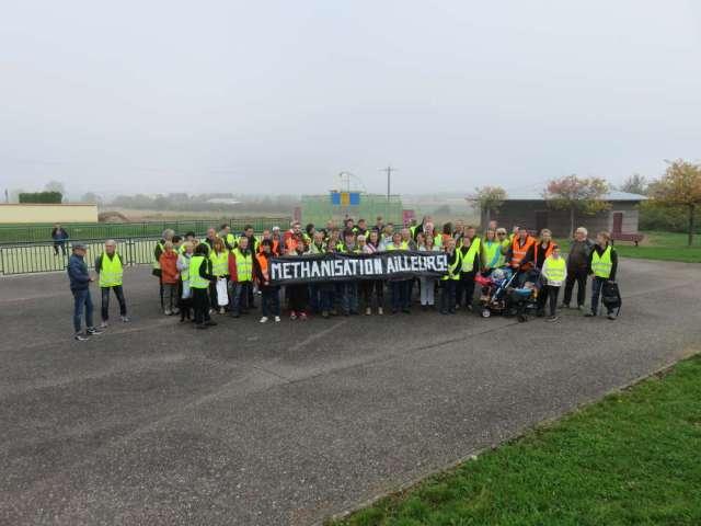 Marche 14 octobre 2017 Pournoy-la-Chétive devant site méthanisation